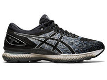 Load image into Gallery viewer, Men's Asics GEL-Nimbus 22 Running Shoe in Black/Black from the side