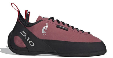 Men's Five Ten Anasazi Lace Climbing Shoe in Trace Maroon/Black/Core White from the side