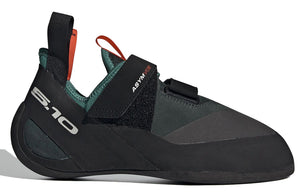 Men's Five Ten Asym VCS Climbing Shoe in Active Green/Black/Active Orange from the side