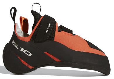 Men's Five Ten Dragon VCS Climbing Shoe in Active Orange/Black/Grey One from the side