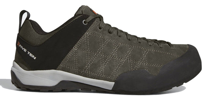 Men's Five Ten Guide Tennie Approach Shoe in Dark Cargo/Black/Unity Orange from the side
