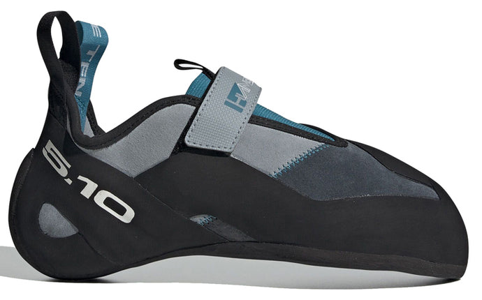 Men's Five Ten Hiangle Climbing Shoe in Light Grey/Bold Onix/Vivid Teal from the side