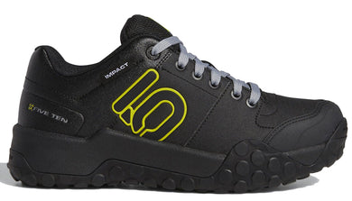 Men's Five Ten Impact Sam Hill Biking Shoe in Black/Grey/Semi Solar Yellow from the side
