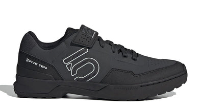 Men's Five Ten Kestrel Lace Biking Shoe in Carbon/Black/Clear Grey from the side