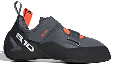 Men's Five Ten Kirigami Climbing Shoe in Onix/Black/Solar Red from the side