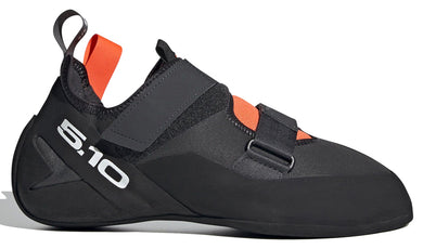 Men's Five Ten Kirigami Rental Climbing Shoe in Carbon/Black/Solar Red from the side