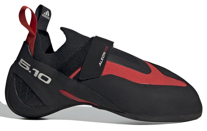 Men's Five Ten Primeaeon Climbing Shoe in Active Red/Black/Grey One from the side