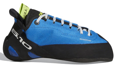 Men's Five Ten Quantum Climbing Shoe in Shock Blue/Black/Semi Solar Yellow from the side