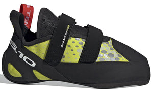 Men's Five Ten Quantum VCS Climbing Shoe in Semi Solar Yellow/Black/Red from the side