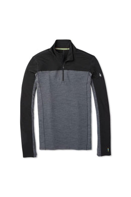 Men's Smartwool Merino Sport 250 Long Sleeve 1/4 Zip Shirt in Black from the front
