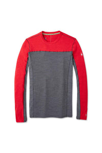 Men's Smartwool Merino Sport 250 Long Sleeve Crew Shirt in Chili Pepper Heather from the front