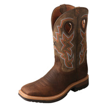 Load image into Gallery viewer, Men's Twisted X Alloy Toe Lite Western Work Boot in Taupe & Bomber from the front