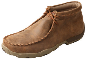 Men's Twisted X Chukka Driving Moccasins Shoe in Bomber/Bomber from the front