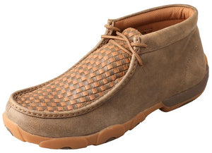 Men's Twisted X Chukka Driving Moccasins Shoe in Bomber & Tan from the front