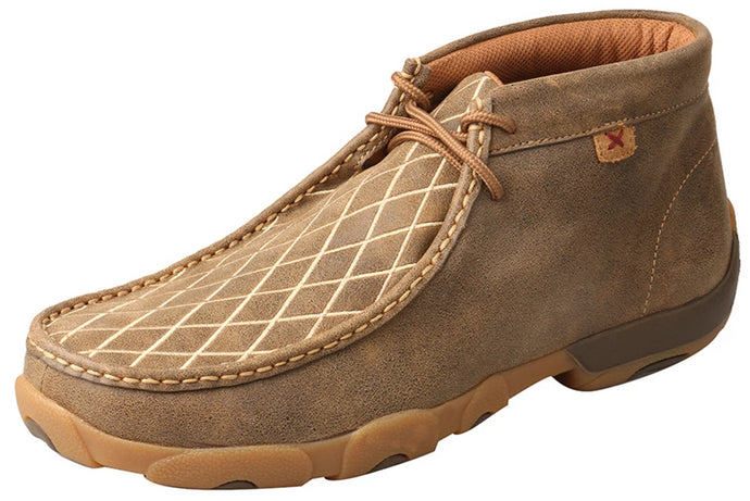 Men's Twisted X Chukka Driving Moccasins Shoe in Bomber from the front