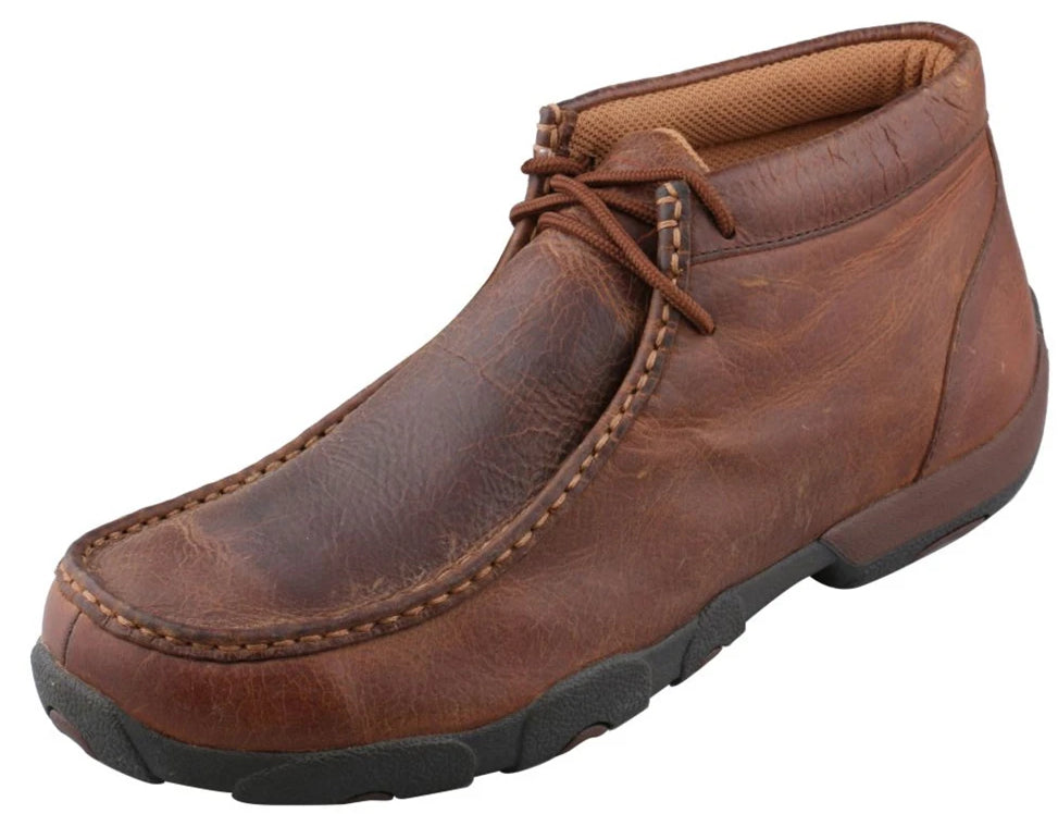 Men's Twisted X Chukka Driving Moccasins Shoe in Copper from the front