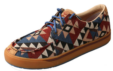 Men's Twisted X Hooey Loper Casual Shoe in Graphic Pattern Canvas from the front