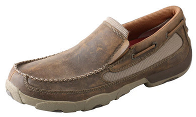 Men's Twisted X Original Slip-On Driving Moccasins Shoe in Bomber from the front
