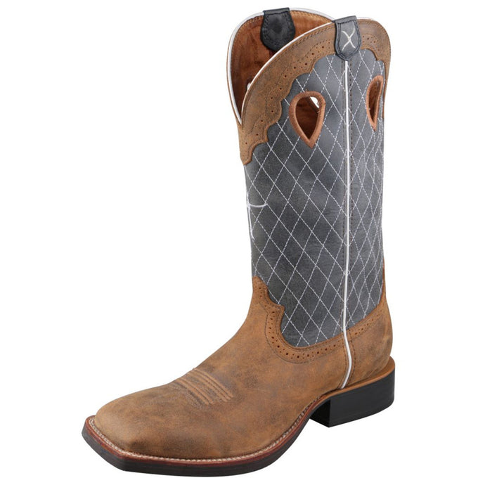 Men's Twisted X Ruff Stock Boot in Bomber & Blue from the front
