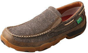 Men's Twisted X Slip-On Driving Moccasins Shoe in Dust from the front
