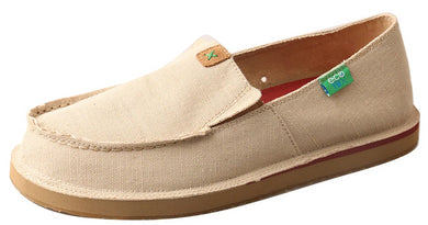 Men's Twisted X Slip-On Loafer Shoe in Khaki from the front