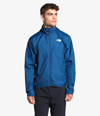 Men's The North Face Flyweight Hoodie Jacket in TNF Black from the front