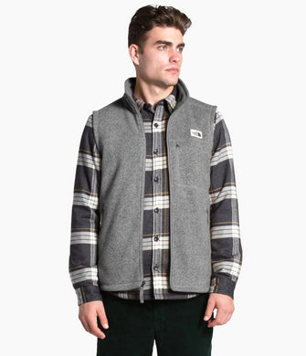 Men's The North Face Gordon Lyons Vest in TNF Medium Grey Heather from the front