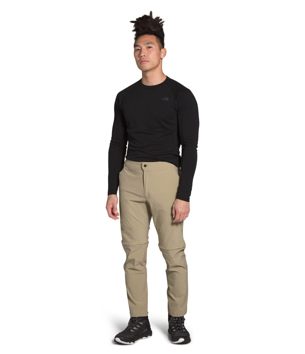 Men's The North Face Paramount Active Convertible Pant in Twill Beige from the front