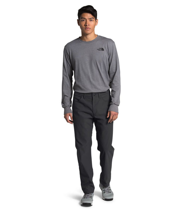 Men's The North Face Sprag 5-Pocket Pant in Asphalt Grey from the front