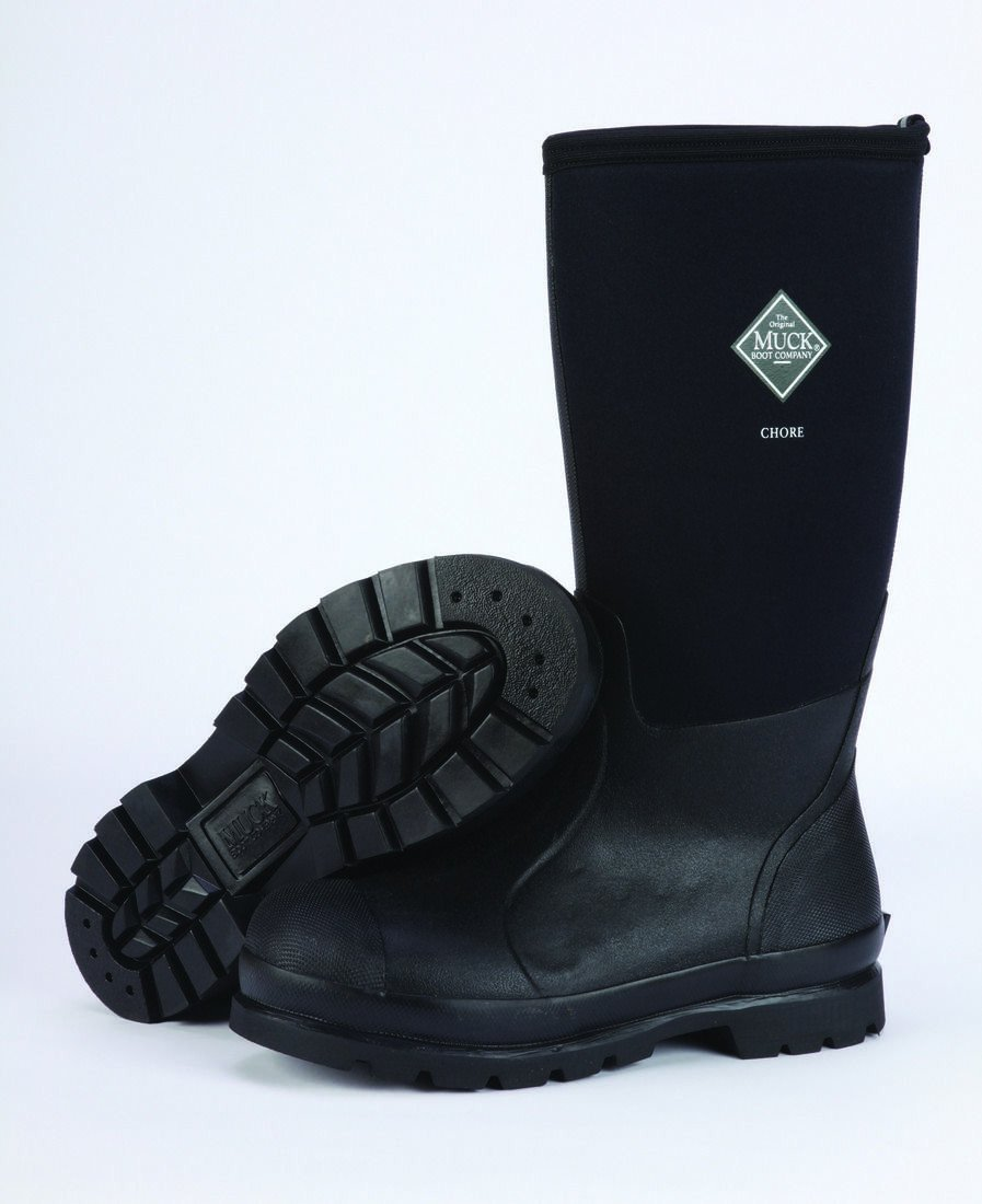 Unisex Muck Boot Chore Hi Boot in Black