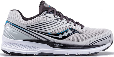 Saucony Men's Echelon 8 Running Shoe in Alloy Black Side Angle View