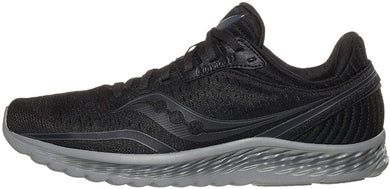 Saucony Men's Kinvara 11 Running Shoe in Blackout Side Angle View