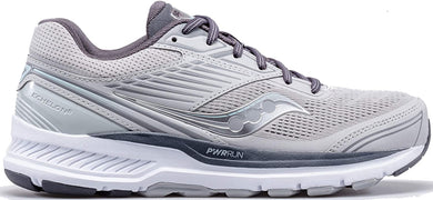Saucony Women's Echelon 8 Running Shoe in Alloy Charcoal Side Angle View