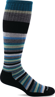 Sockwell Men's Up Lift Firm Graduated Compression Sock in Black Side Angle View