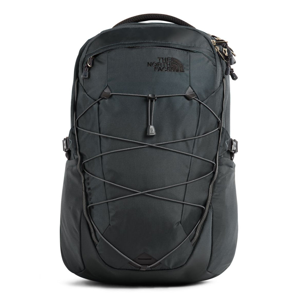 The North Face Borealis Backpack in Asphalt Grey/Silver Reflective from the front
