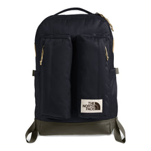 Load image into Gallery viewer, The North Face Crevasse Backpack in Aviator Navy Light Heather/New Taupe Green from the front