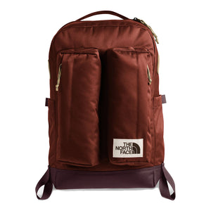 The North Face Crevasse Backpack in Brandy Brown/Root Brown from the front
