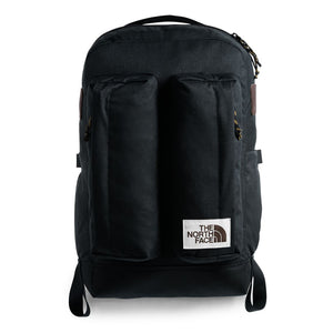 The North Face Crevasse Backpack in TNF Black Heather from the front