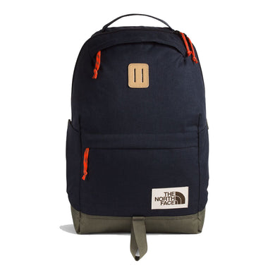 The North Face Daypack Backpack in Aviator Navy Light Heather/New Taupe Green from the front