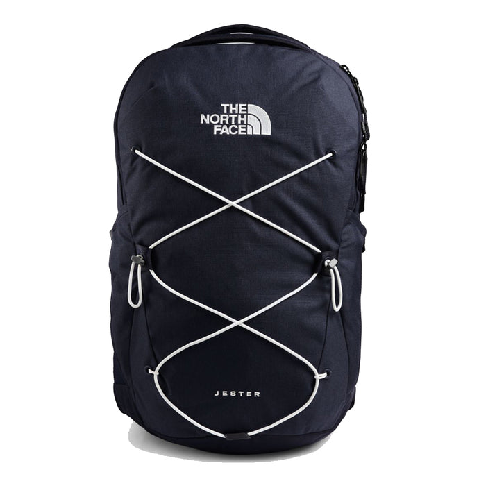 The North Face Jester Backpack in Aviator Navy Light Heather/TNF White from the front