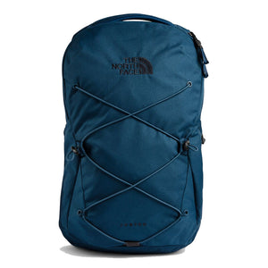 The North Face Jester Backpack in Blue Wing Teal from the front