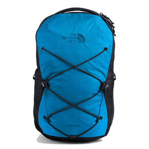 The North Face Jester Backpack in Clear Lake Blue/Aviator Navy from the front