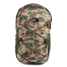 Load image into Gallery viewer, The North Face Jester Backpack in Hawthorne Khaki Duck Camo Print/New Taupe Green from the front