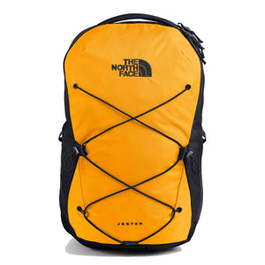 The North Face Jester Backpack in Summit Gold/TNF Black from the front