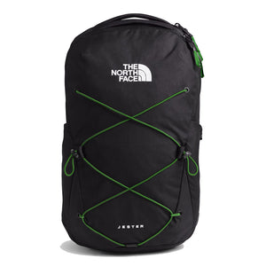 The North Face Jester Backpack in TNF Black Heather/Adder Green from the front