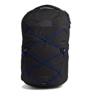 The North Face Jester Backpack in TNF Black Heather/TNF Blue from the front