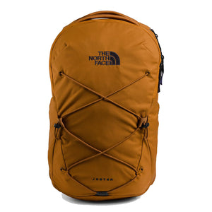 The North Face Jester Backpack in Timber Tan/TNF Navy from the front