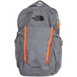 The North Face Pivoter Backpack in Aviator Navy Light Heather/TNF White from the front