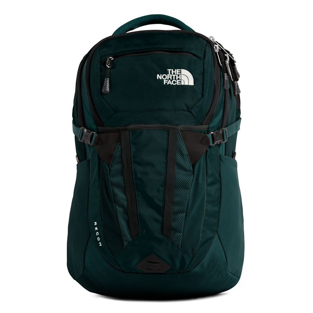 Unisex The North Face Recon Backpack in Ponderosa Green/TNF Black from the front view