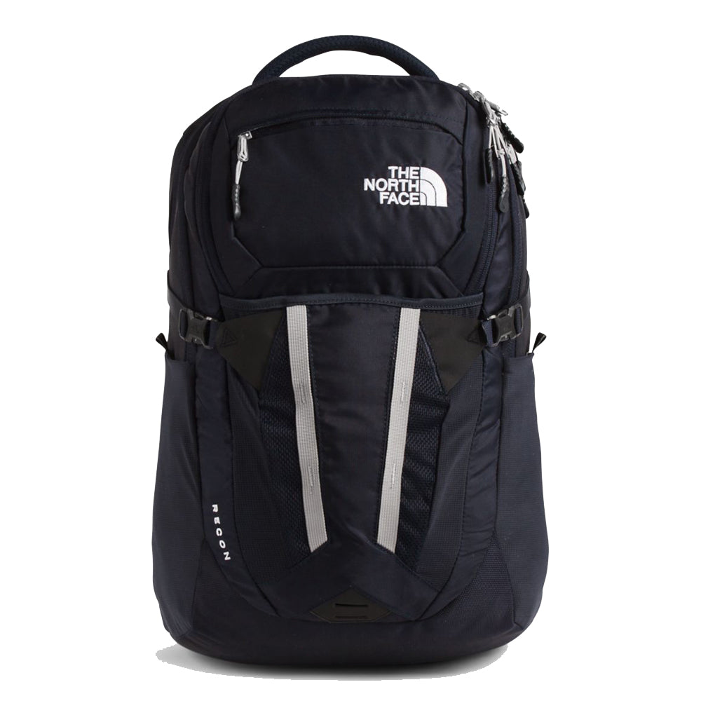 Unisex The North Face Recon Backpack in Aviator Navy/Meld Grey from the front view